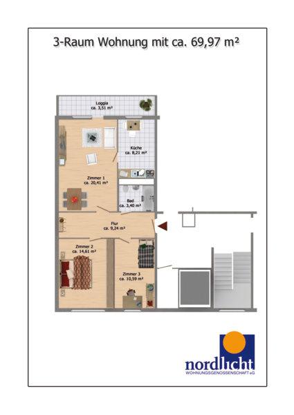 Raum Wohnung Berlin Marzahn